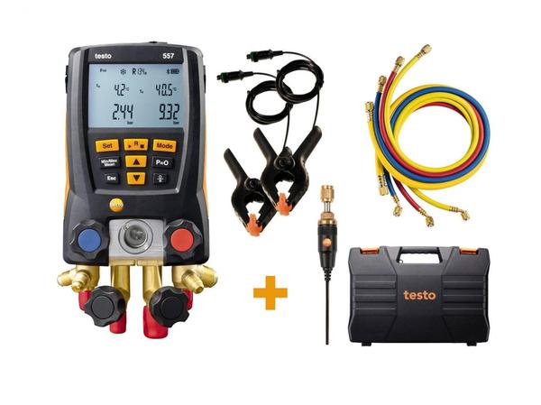testo 557 digital manifold kit - with Bluetooth® and set of 4 filling tubes