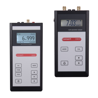 Portable meters for water analyses